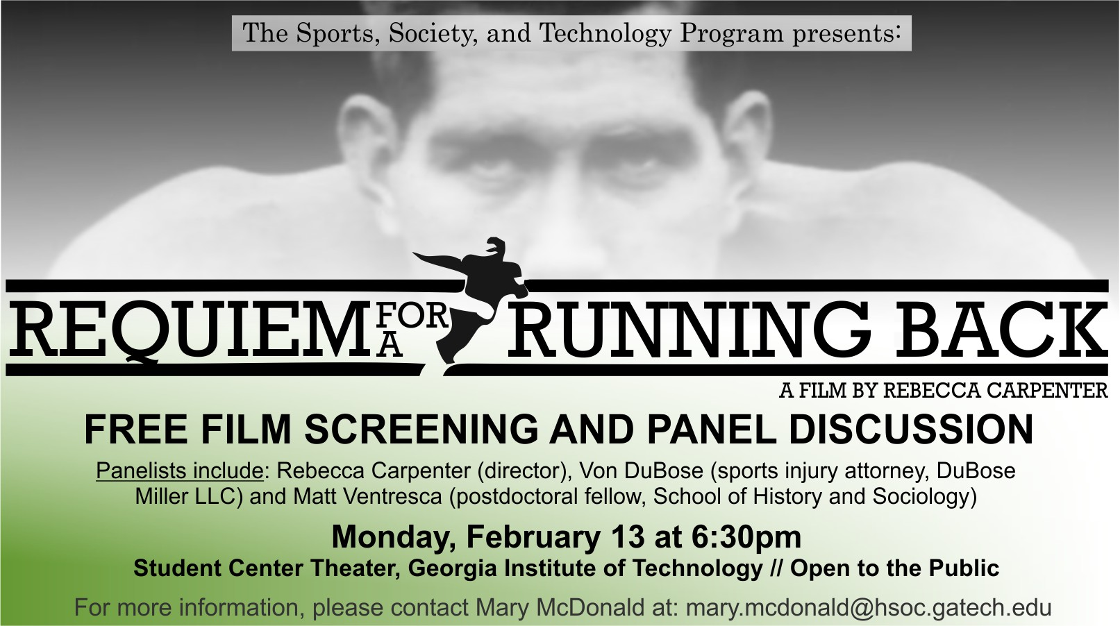Requiem for a Running Back Screening